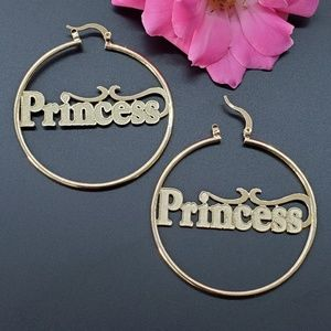 Gold plated Women's Jewelry Hoops Princess.
